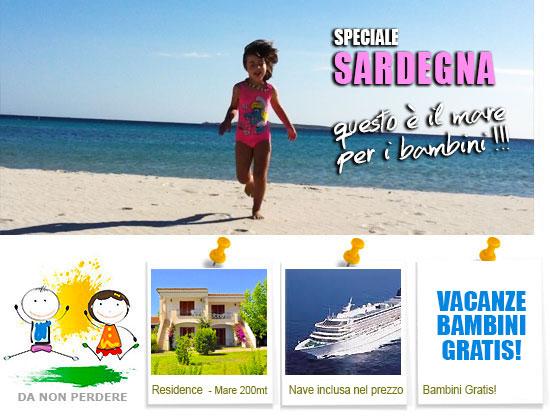 Vacanze con bambini mare bambini gratis speciale sardegna for Vacanze in sardegna con bambini