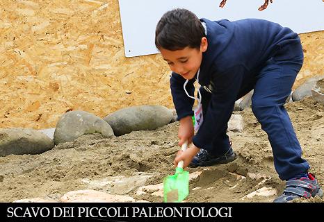 Scavo dei piccoli paleontologi